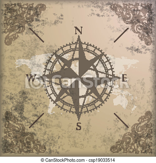 Vintage background edge ornaments compass world map vintage vintage background edge ornaments compass world map csp19033514 gumiabroncs Gallery