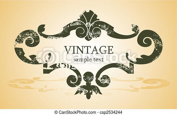 vintage background - csp2534244