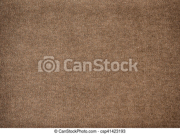 Vintage background made of brown cotton - csp41423193