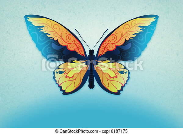 Vintage Background With Butterfly Decorative Butterfly With Elegant