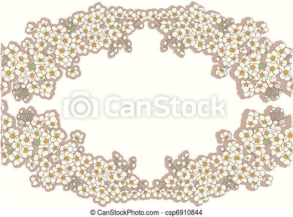 Vintage background with decor floral frame - csp6910844