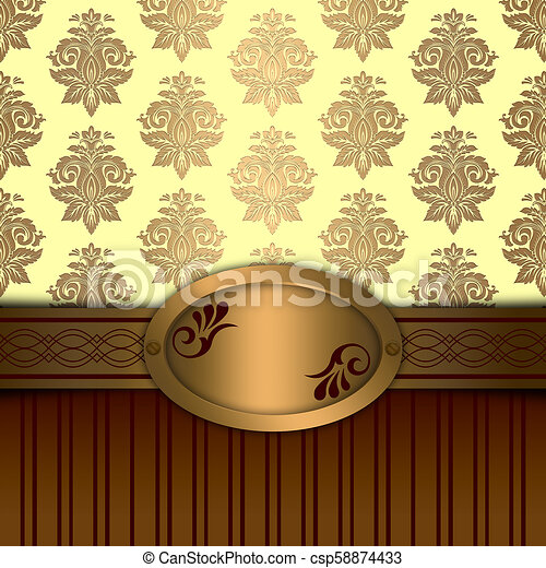Vintage background with decorative pattern. - csp58874433