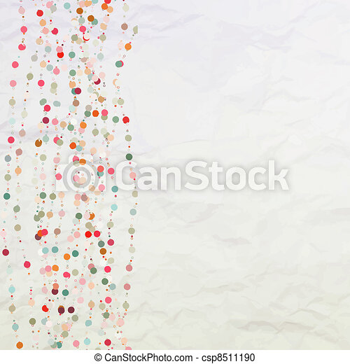 Vintage background with dots.  - csp8511190