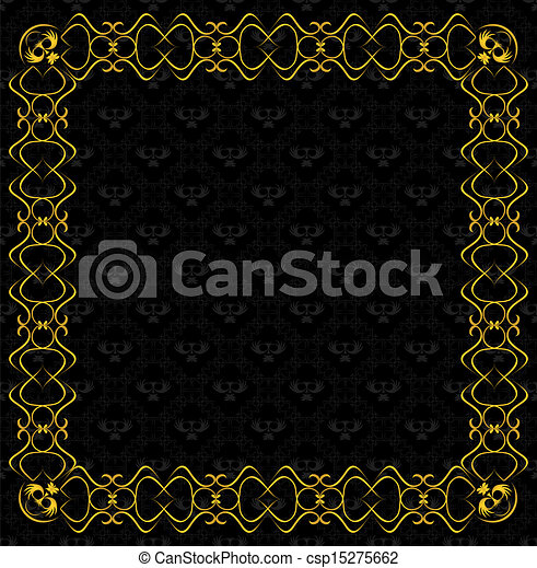 vintage background with frame - csp15275662