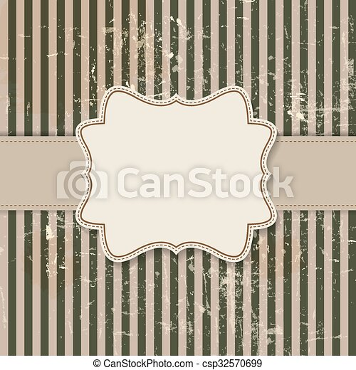 Vintage background with  frame vector illustration - csp32570699