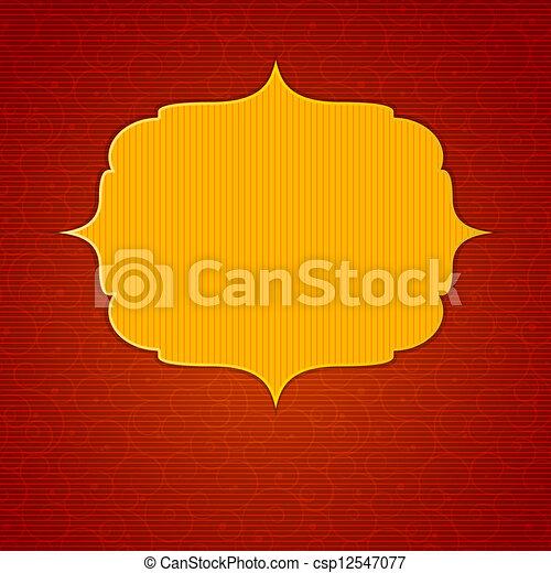 Vintage background with golden frame vector illustration - csp12547077
