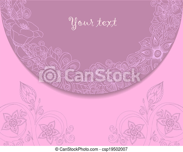 Vintage Background With Lace And Floral Ornaments