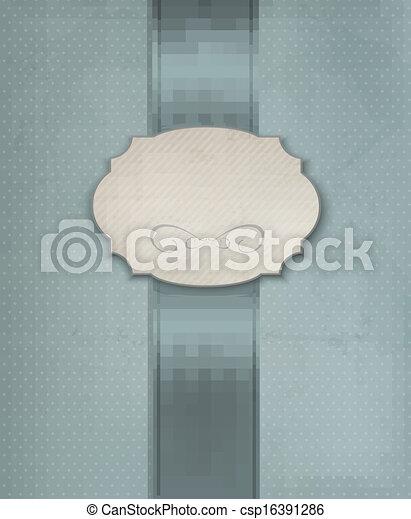 Vintage background with ornament frame. Vector illustration - csp16391286