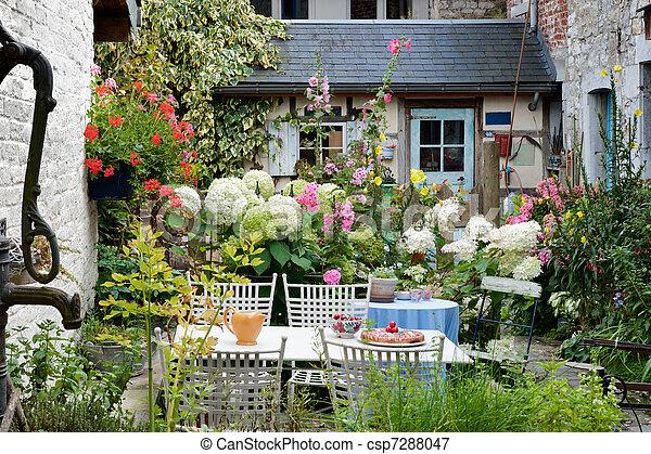 Vintage backyard - csp7288047