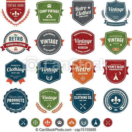 Vintage badges - csp15155695