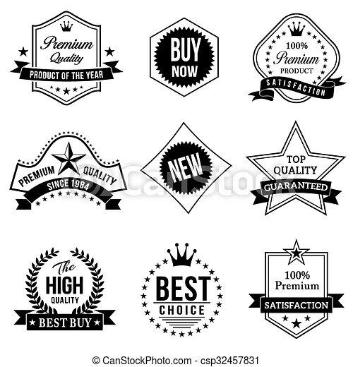 Vintage Badges - csp32457831