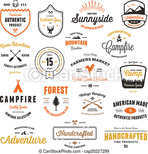 Vintage badges & labels - csp20227299