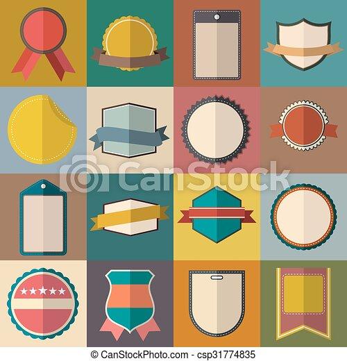 Vintage badges set - csp31774835