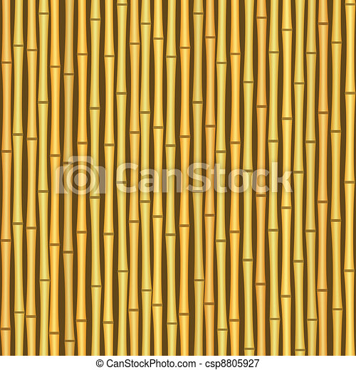 vintage bamboo wall seamless texture background - csp8805927