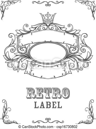 vintage banner. template certificate, diploma. elements of, Powerpoint templates