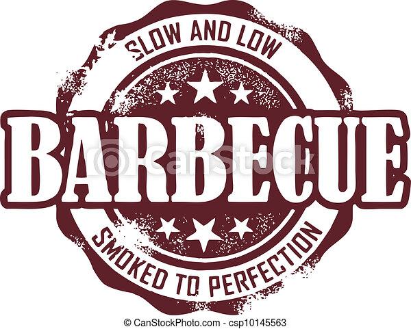 Vintage Barbecue Stamp - csp10145563
