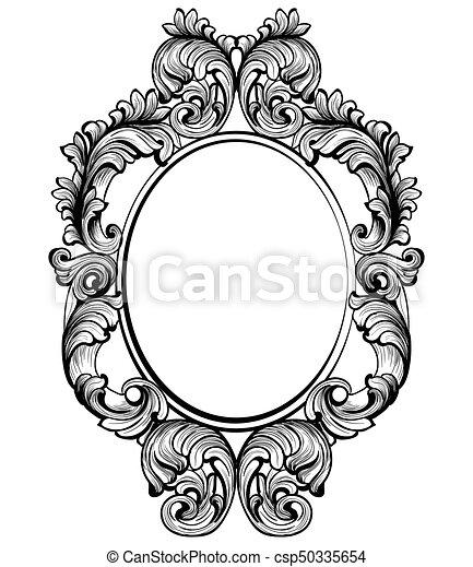 Vintage baroque frame decor. detailed rich ornament vector ...