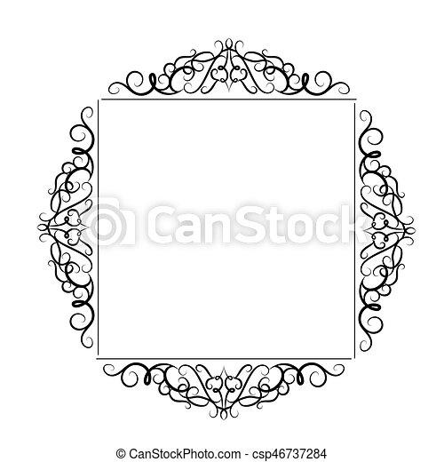 Vintage baroque frame. Vintage baroque swirl frame black and ...
