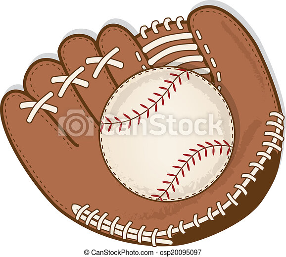 Vintage Baseball And Glove Or Mitt
