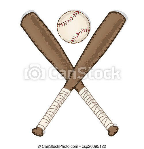 Vintage Baseball And Wooden Bat On Transparent Background Vector Format