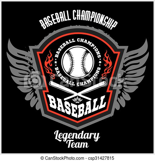 Vintage baseball label and badge - vector stock. - csp31427815
