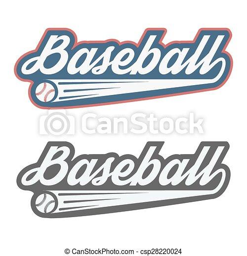 Vintage baseball label and badge - csp28220024