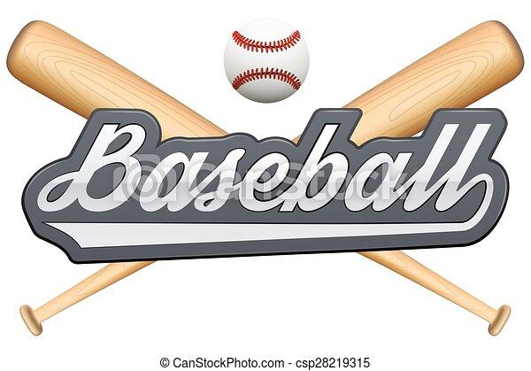 Vintage baseball label and badge - csp28219315