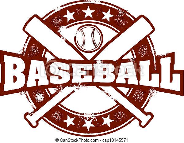 Vintage Baseball Sport Stamp - csp10145571