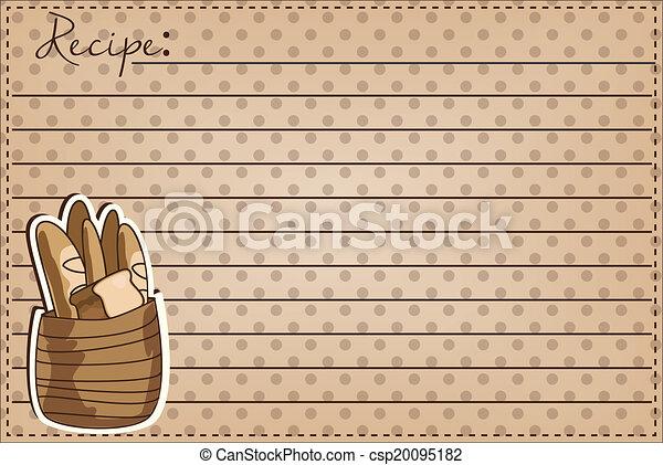 Vintage basket full of bread - csp20095182