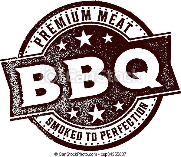 Vintage BBQ Sign - csp34355837