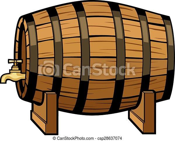 vintage beer barrel vector  - csp28637074