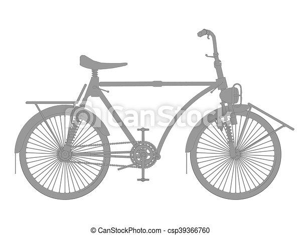 Vintage bicycle - csp39366760
