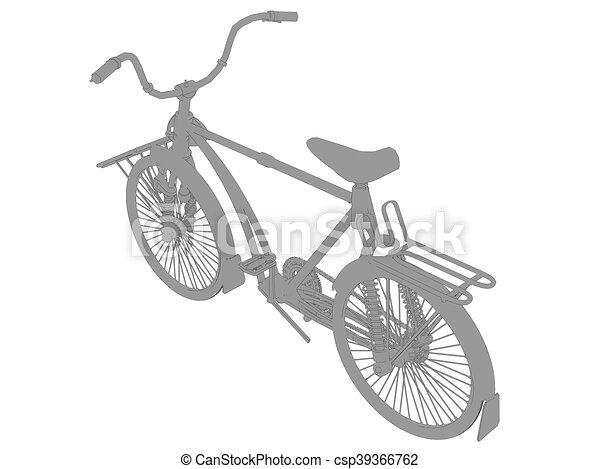 Vintage bicycle - csp39366762