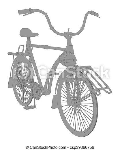 Vintage bicycle - csp39366756
