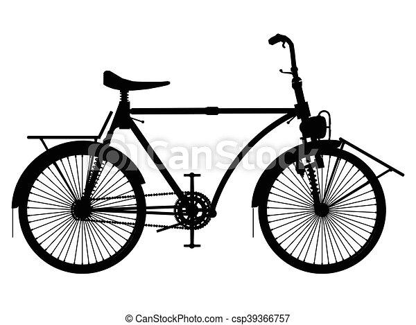 Vintage bicycle - csp39366757