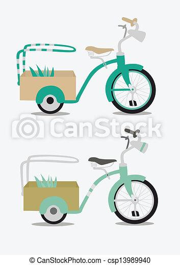 Vintage bicycle - csp13989940
