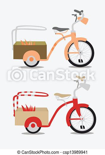 Vintage bicycle - csp13989941