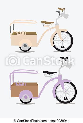 Vintage bicycle - csp13989944