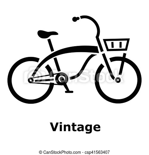 Vintage bicycle icon, simple style - csp41563407