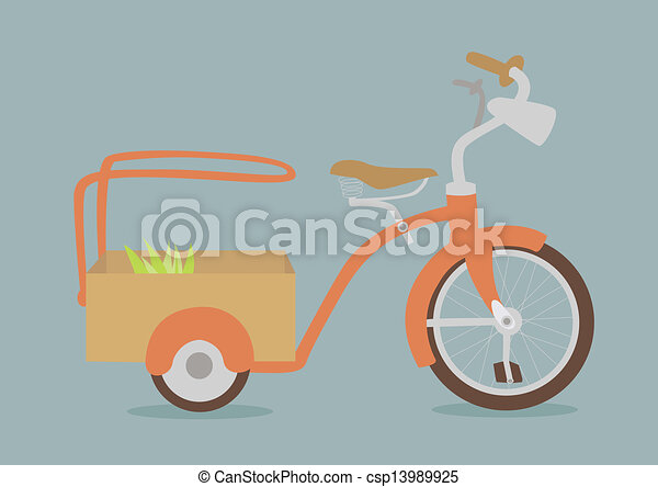 vintage bicycle - csp13989925