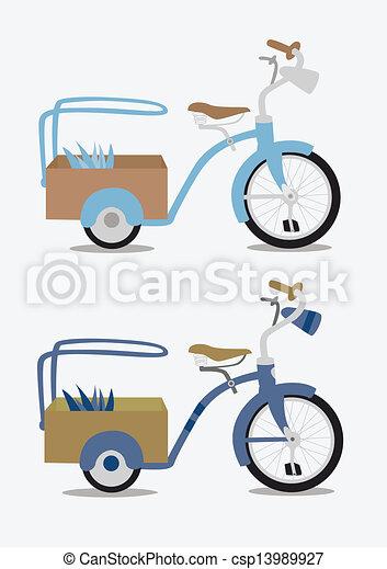 Vintage bicycle - csp13989927