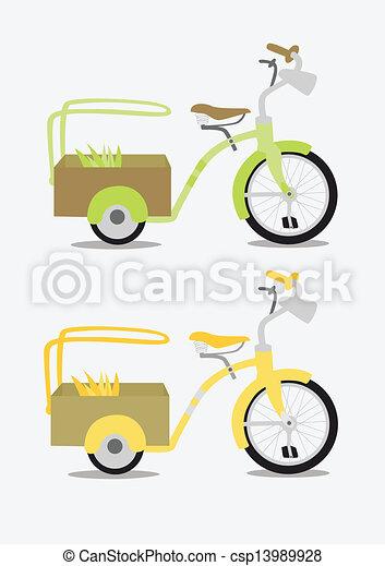 Vintage bicycle - csp13989928