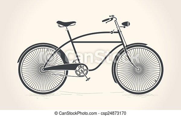 Vintage bicycle - csp24873170