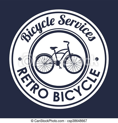 vintage Bicycle isolated icon design - csp38648667