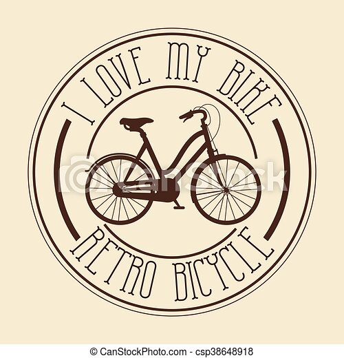 vintage Bicycle isolated icon design - csp38648918