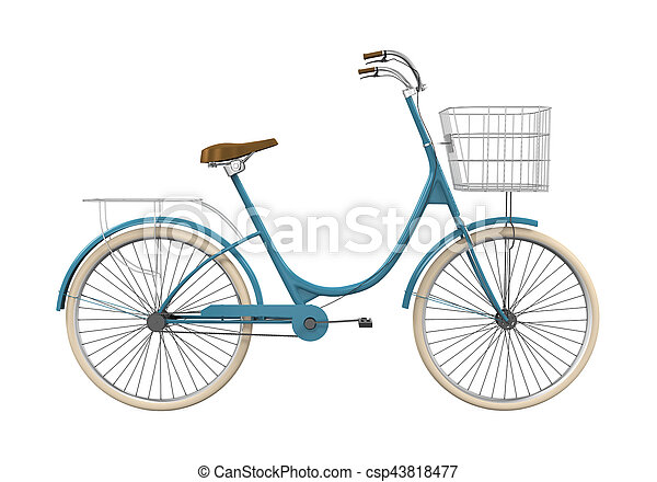 Vintage Bicycle Isolated - csp43818477