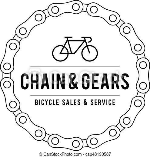 Vintage Bicycle Label illustration - csp48130587