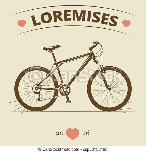 Vintage bicycle logo or print design - csp58158193