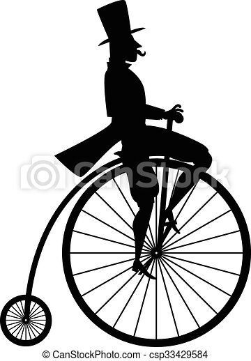 Vintage bicycle silhouette - csp33429584