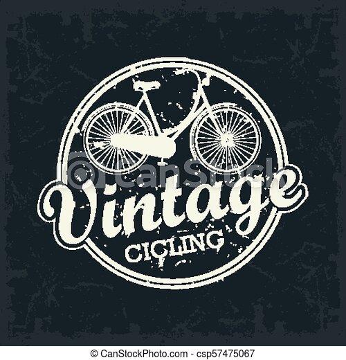 Vintage Bicycle stamp - csp57475067